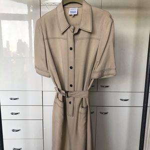 Akris Bergdorf Goodman Beige Dress